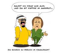 Deutschland, Angela merkel, Zeichnung, Arabien