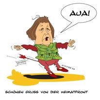 Angela merkel, Zeichnung, Afghanistan, Deutschland