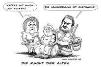 Angela merkel, Deutschland, Rentner, Zeichnungen