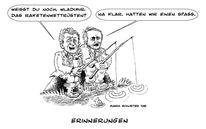 Zeichnung, Busch, Putin, Zeichnungen