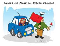 Fahrzeug, Fahne, Polizei, Auto