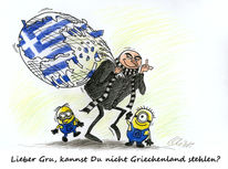 Griechenland, Karikatur, Grexit, Cartoon