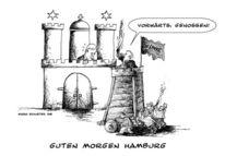Hamburg, Zeichnungen, Morgen