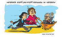 Koch, Ypsilanti, Merkel, Hessen