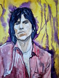 Portrait, Richards, Rolling, Aquarellmalerei
