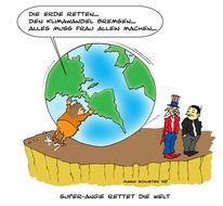Deutschland, Erde, Klimawandel, Zeichnung