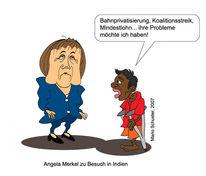 Indien, Zeichnung, Angela merkel, Zeichnungen