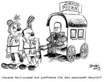 Cartoon, Steinbrück, Berlusconi, Grillo