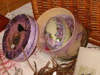 Spanschachtel, Zeichnung, Ostern, Holzschachtel