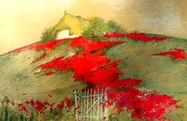 Blüte, Rot, Landschaft, Natur