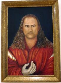 Mühlberg, Selbstportrait, Malerei, Gemälde porträt