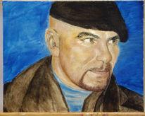 Portrait, Malerei, Mann, Gesicht
