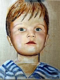 Portrait, Figural, Malerei, Augen