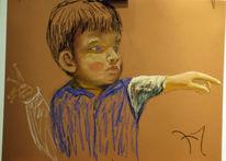 Figural, Portrait, Pastellmalerei, Malerei