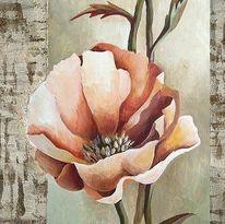 Blumen, Malerei, Stillleben, Acrylmalerei