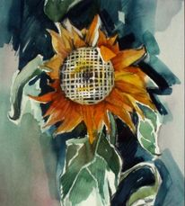 Grafik, Blumen, Realismus, Aquarellmalerei