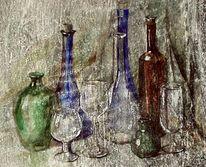 Aquarellmalerei, Grafik, Glas, Realismus