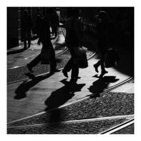 Fotografie, Straße, Schatten, Menschen