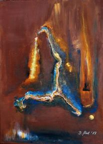 Abstrakt, Licht, Acrylmalerei, Formen