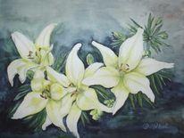 Aquarellmalerei, Realismus, Blüte, Natur