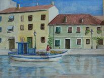 Wasser, Boot, Hafen, Haus