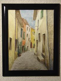 Straße, Gasse, Italien, Malerei