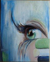 Augen, Malerei, Acrylmalerei, Mischtechnik