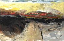 Landschaft, Malerei, Meer, Morgengrauen