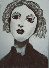 Kohlezeichnung, Schwarz, Zeichnungen, Studie