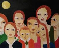 Mond, Nachtgespenster, Nacht, Malerei