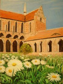 Architektur, Landschaft, Kirche, Ölmalerei