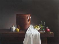 Stillleben, Realismus, Ölmalerei, Malerei