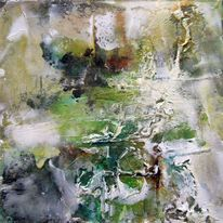 Mischtechnik, Abstrakt, Acrylmalerei, Malerei