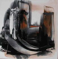 Malerei, Abstrakt, Hafen