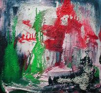 Abstrakt, Malerei, Mauer