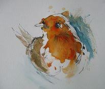 Nass, Tiere, Aquarellmalerei, Aquarell