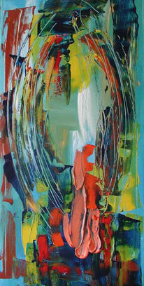 Abstrakt, Malerei, Komet