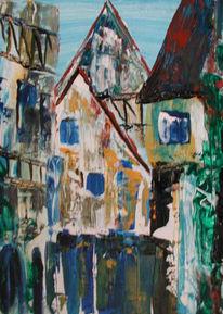 Landschaft, Malerei, Stadt