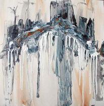 Malerei, Abstrakt, Grau