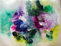 Abstrakt, Malerei, Hortensien