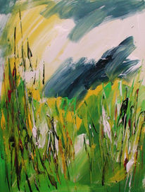 Abstrakt, Malerei, Gras