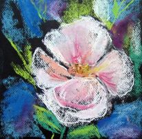 Malerei, Pastellmalerei, Blumen, Hecke