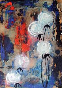 Abstrakt, Malerei, Pusteblumen