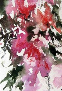 Pflanzen, Aquarellmalerei, Abstrakt, Aquarell