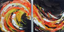 Malerei, Abstrakt, Blut, Rhythmus