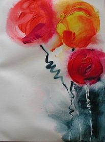 Abstrakt, Malerei, Garten