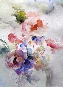 Aquarellmalerei, Nass, Schicht, Aquarell