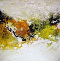 Malerei, Abstrakt, Landschaft, Bergen