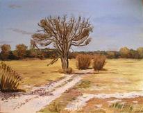 Acrylmalerei, Landschaft, Malerei, Baum