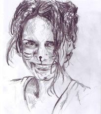 Zeichnung, Bleistiftzeichnung, Portrait, Ostern